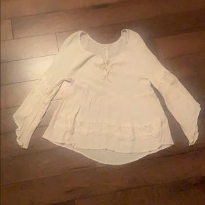 4 for $25 Hollister lace detail top size M